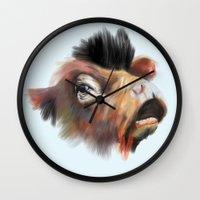 Crazy Cow Wall Clock