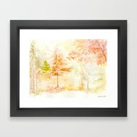Memories of Autumn Framed Art Print