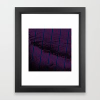 Red stripes on bold blue illustration. Framed Art Print