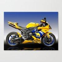 Yamaha R1 Yellow Canvas Print