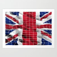 Great Britain flag 3d graphic Art Print