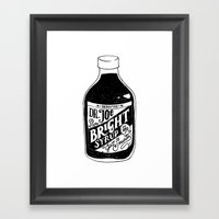 Don't Be Stupid Elixir Framed Art Print