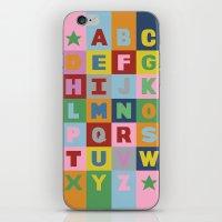 Alphabet Portrait iPhone & iPod Skin