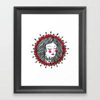 Mandala Girl Framed Art Print