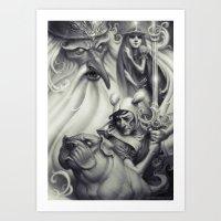 Another Castle :: Duotone Print Art Print