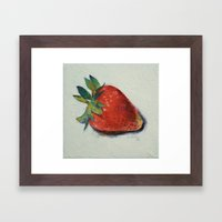 Strawberry Framed Art Print