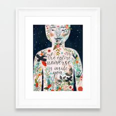 The Entire Universe Is I… Framed Art Print