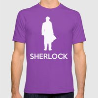 Sherlock Poster 01 Mens Fitted Tee Ultraviolet SMALL