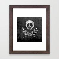 Peace Is Death Framed Art Print
