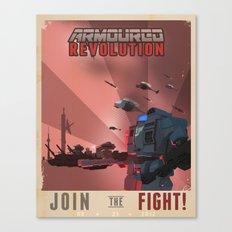 Armoured Revolution Propaganda Poster Canvas Print