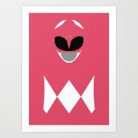 Power Rangers - Pink Ran… Art Print