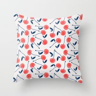 Throw Pillow featuring Cherry  by Babiole Design