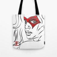 Masked Woman Tote Bag