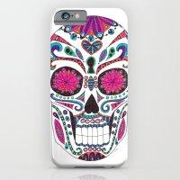 sugar skull iPhone & iPod Cases featuring Sugar Skull by Laura Maxwell