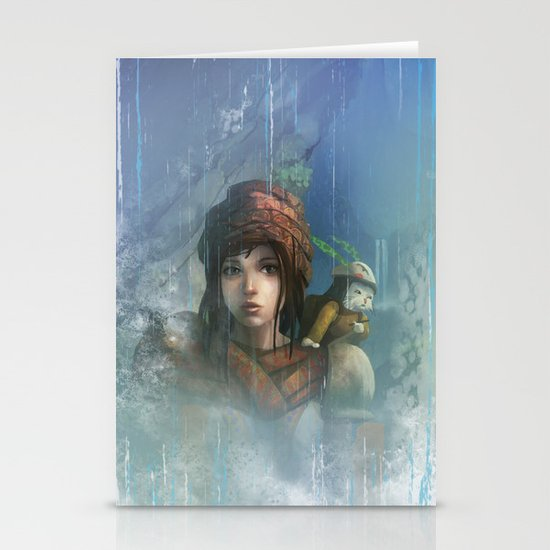 girl in the abyss  Stationery Card