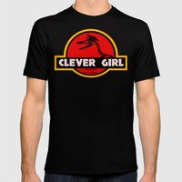 Clever Girl Mens Fitted Tee Black SMALL