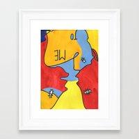 Me to You Framed Art Print