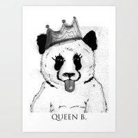 Queen B Art Print