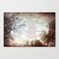 Look Up and The Dreaming Canvas Print