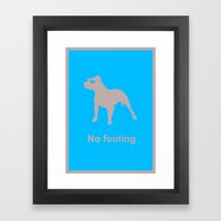 Edgar Davids - No Fouling Framed Art Print