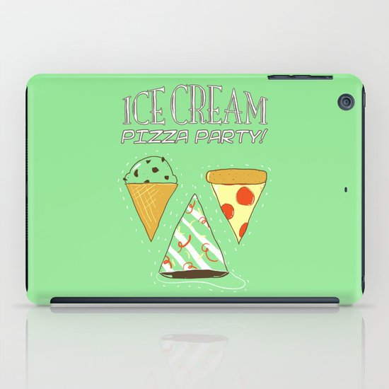 Ice Cream Pizza Party iPad Case