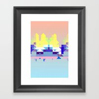Summer City Framed Art Print
