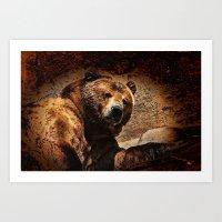 Bear Artistic Art Print