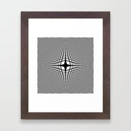 Black On White Convex Framed Art Print