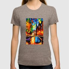 Starry Night Tardis Womens Fitted Tee Tri-Coffee SMALL
