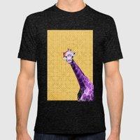 Tis The Season - Giraffe Mens Fitted Tee Tri-Black SMALL