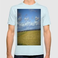 German Countryside Mens Fitted Tee Light Blue SMALL