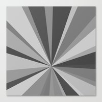 Monochrome Starburst Canvas Print