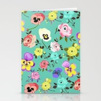 Roses And Pansies Stationery Cards