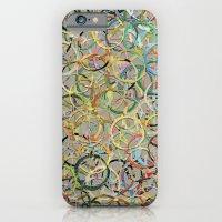 Rainbow Circles Collage iPhone 6 Slim Case