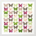 Butterfly Patchwork 2 Art Print