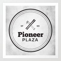 Pioneer Plaza Art Print
