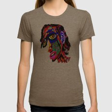 The Knightly Womens Fitted Tee Tri-Coffee SMALL