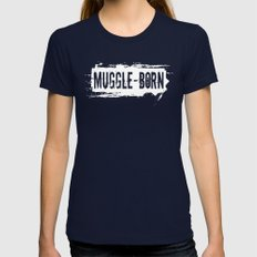 Muggle - Born Womens Fitted Tee Navy SMALL