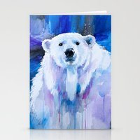 polar bear Stationery Cards featuring Polar bear  by Slaveika Aladjova