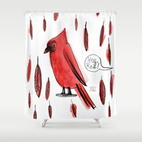 Hey, Red! Shower Curtain