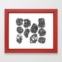 Cross Hatching Eggs Framed Art Print