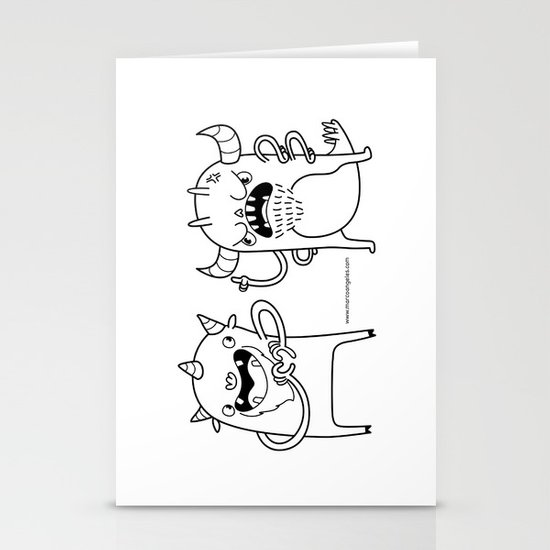 Monster Dialogues Stationery Card