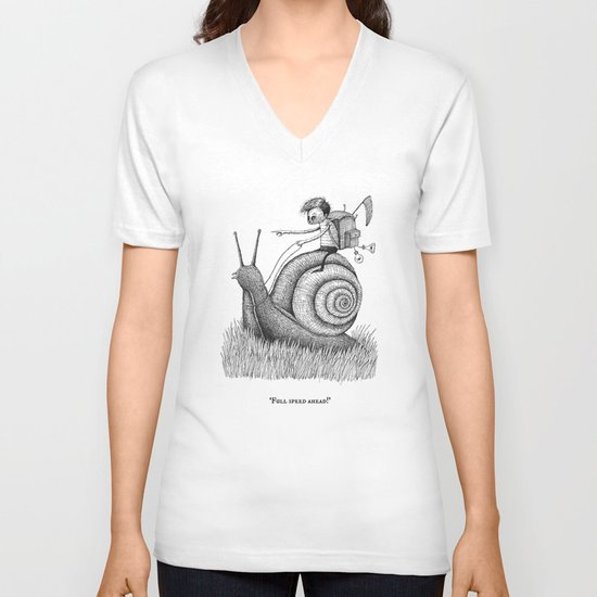 'Full Speed Ahead!' V-neck T-shirt