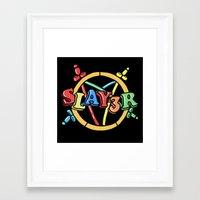 Slayer—For Kids! Framed Art Print