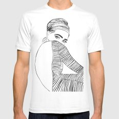 Twiggy Mens Fitted Tee SMALL White