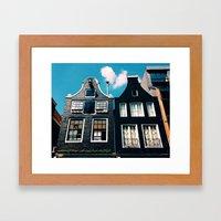 oh those houses ^_^  Framed Art Print