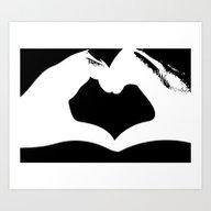 Hand Of Heart Art Print