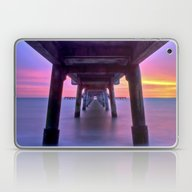 Laptop & iPad Skin featuring Deal Pier At Sunrise by Alice Gosling