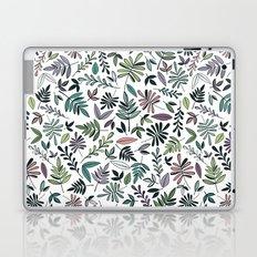 Black Border Leaves  Laptop & iPad Skin