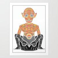 Gollum Art Print